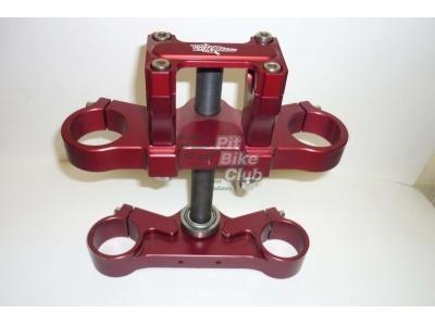 Траверса широкая 45/48 со стойками 28.6мм CNC красная фото 1