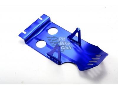 Защита двигателя алюминий синяя фото 1