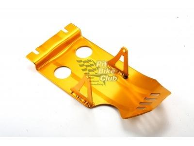 Защита двигателя алюминий золотая RACER фото 1