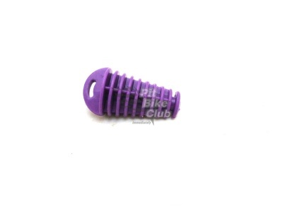 Затычка глушителя резиновая фиолетовая фото 1