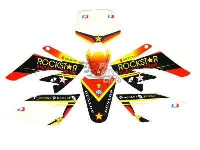 "Наклейки на пластик (комплект) KAYO CRF ""ROCKSTAR"" фото 1"