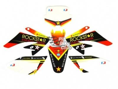 "Наклейки на пластик (комплект) KAYO CRF ""ROCKSTAR"" фото 3"