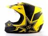 Шлем кроссовый Fox Racing V1 Rockstar ECE 2014, желто-черный превью 1