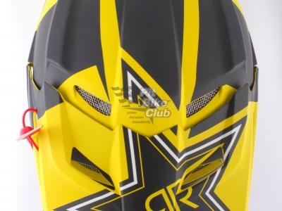 Шлем кроссовый Fox Racing V1 Rockstar ECE 2014, желто-черный фото 7