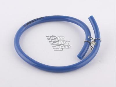 Топливный шланг резиновый синий 40см с зажимамми фото 3