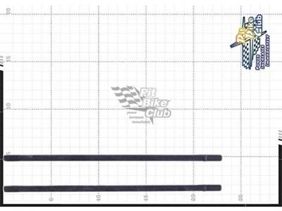 Шпилька цилиндра левая (2шт.) KAYO двиг. YX140 см3  фото 7