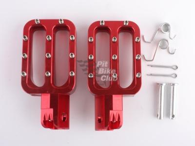 Подножки водителя CNC (пара) красные фото 3