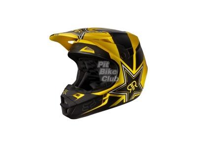 Шлем кроссовый Fox Racing V1 Rockstar ECE 2014, желто-черный фото 9