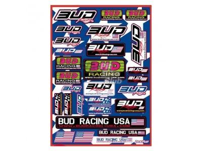 Наклейки BUD Racing USA фото 1