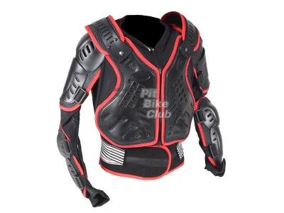 Куртка защитная (черепаха) Dark Knight черно-красная (Размер L) MICHIRU фото 1