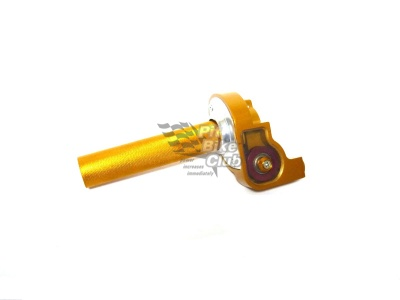 Ручка газа короткоходная алюминиевая золотая фото 1