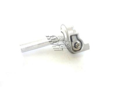 Ручка газа короткоходная алюминиевая серебрянная фото 1