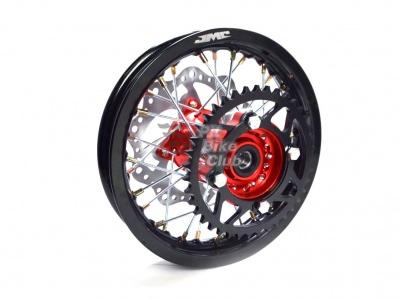 Диск колеса усиленный кросс 1,85х12 зад (ступица CNC) DOT 7116 алюминий в сборе фото 1