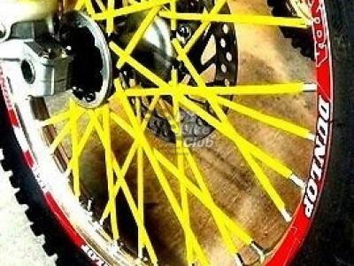 Трубки для спиц 35шт ярко-желтые фото 7