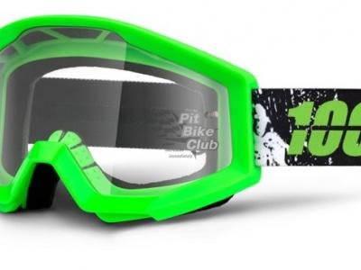 Очки 100% Strata Moto Crafty Lime / Clear Lens (50400-078-02) фото 1