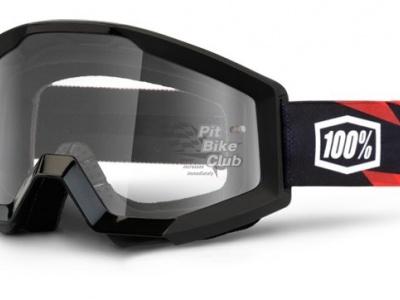 Очки 100% Strata Moto Slash / Clear Lens (50400-076-02) фото 1