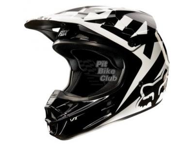 Мотошлем Fox V1 Race Helmet Black M (11042-001-M) фото 1