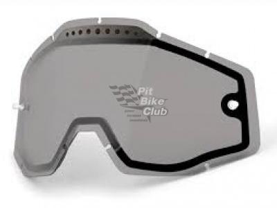 Линза 100% Racecraft/Accuri/Strata Vented Dual Pane Lens Anti-Fog Smoke (51006-007-02) фото 1