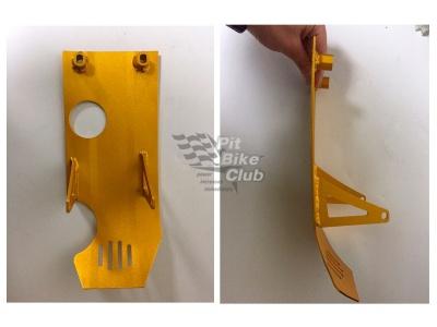 Защита двигателя алюминий золотая RACER фото 3
