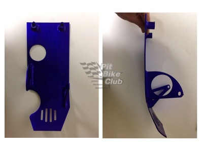 Защита двигателя с электростартером алюминий синяя фото 5