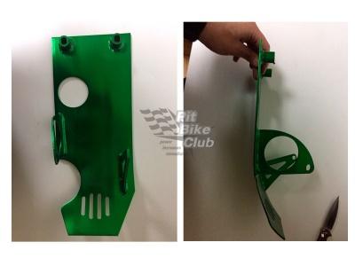 Защита двигателя с электростартером алюминий зеленая фото 3
