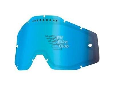Линза 100% Racecraft/Accuri/Strata Vented Dual Pane Lens Anti-Fog Blue Mirror (51006-022-02) фото 1