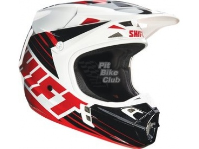 Мотошлем Shift V1 Assault Race Helmet Black/White M (16109-018-M) фото 1