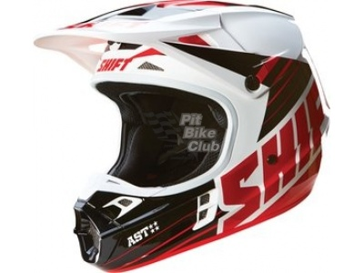 Мотошлем Shift V1 Assault Race Helmet Black/White L (16109-018-L) фото 3