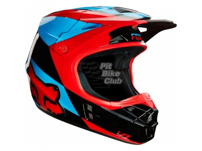 Мотошлем Fox V1 Mako Helmet Blue/Red M (16003-149-M) фото 1