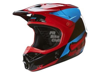 Мотошлем Fox V1 Mako Helmet Blue/Red M (16003-149-M) фото 3