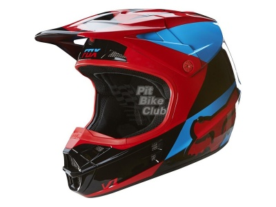 Мотошлем Fox V1 Mako Helmet Blue/Red L (16003-149-L) фото 3
