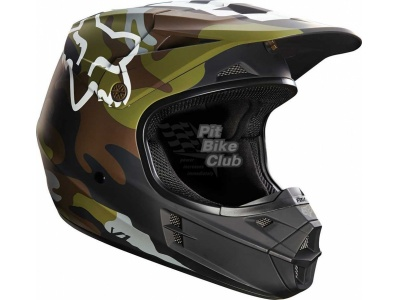 Мотошлем Fox V1 Camo Helmet Green S (14123-031-S) фото 1