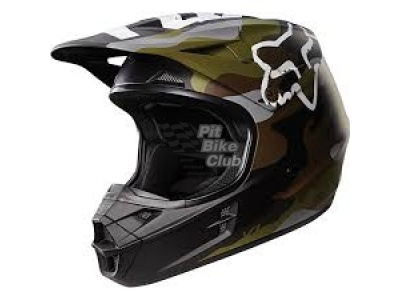 Мотошлем Fox V1 Camo Helmet Green S (14123-031-S) фото 3