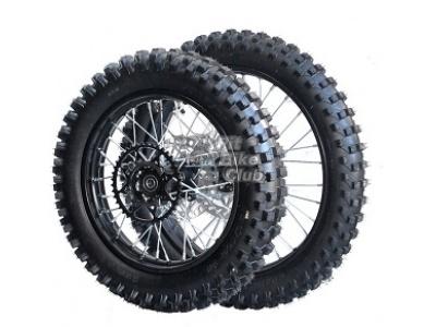Комплект колес КРОСС 14-17 428 в сборе с резиной,торм.дисками и звездой фото 1