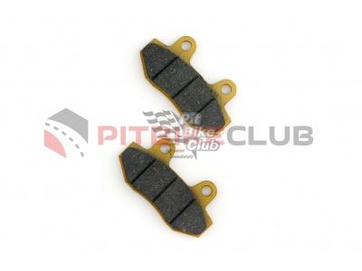 Колодки тормозные (диск) Zongshen RACE (желтые) ZUNA фото 1