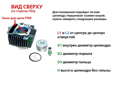 Цилиндро-поршневая группа 4T двиг. 152FMI 52.4x55.5   фото 9