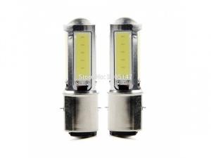 Лампа H6 BA20D (2 уса) 12V LED