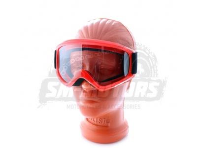 Очки для мотокросса SM-G39 красные глянцевые фото 1