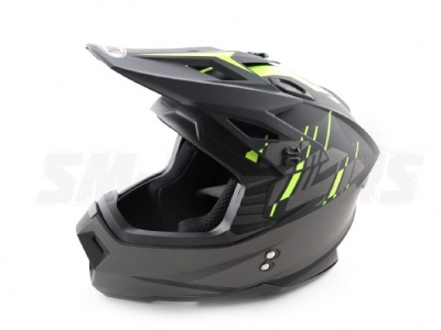Шлем (кроссовый) Ataki MX801 Strike Hi-Vis желтый/черный матовый XL фото 5