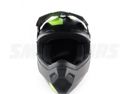Шлем (кроссовый) Ataki MX801 Strike Hi-Vis желтый/черный матовый XL фото 3
