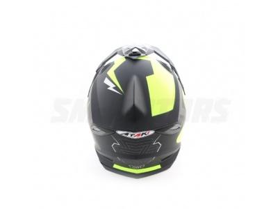 Шлем (кроссовый) Ataki MX801 Strike Hi-Vis желтый/черный матовый XL фото 1