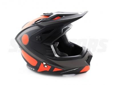 Шлем (кроссовый) Ataki MX801 Strike красный/черный глянцевый  XL фото 5