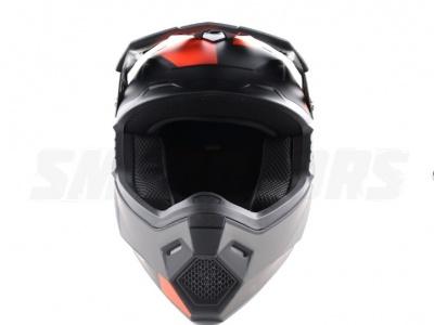 Шлем (кроссовый) Ataki MX801 Strike красный/черный глянцевый  XL фото 3