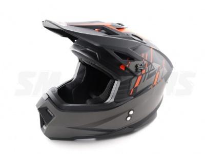 Шлем (кроссовый) Ataki MX801 Strike красный/черный глянцевый  XL фото 1