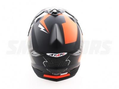 Шлем (кроссовый) Ataki MX801 Strike красный/черный глянцевый  XL фото 7
