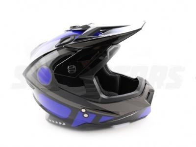 Шлем (кроссовый) Ataki MX801 Strike синий/черный глянцевый  L фото 7