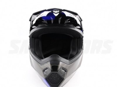 Шлем (кроссовый) Ataki MX801 Strike синий/черный глянцевый  L фото 3