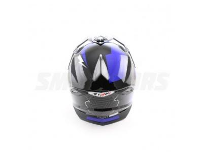 Шлем (кроссовый) Ataki MX801 Strike синий/черный глянцевый  L фото 1