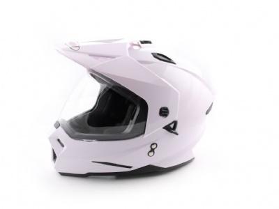 Шлем (мотард) Ataki FF802 Solid белый глянцевый S фото 1