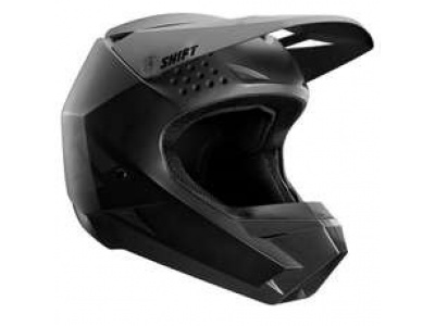 Мотошлем подростковый Shift White Youth Helmet Matte Black YS 47-48cm (20804-255-S) фото 1